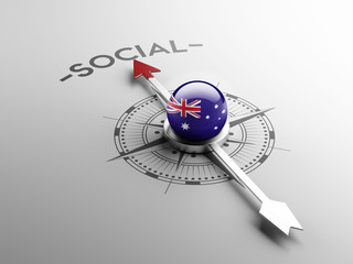Australia Social Concept