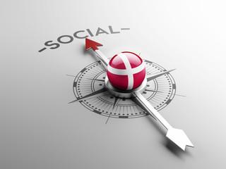 Denmark Social Concept