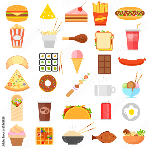 Fast Food Icon - 65862829