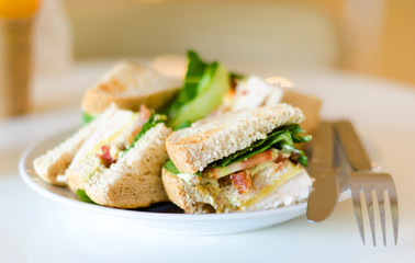 Group of club sandwiches