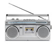 Постер, плакат: Eighties vintage radio cassette player