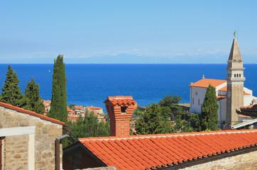 Coast of Adriatic Sea. Piran, Slovenia