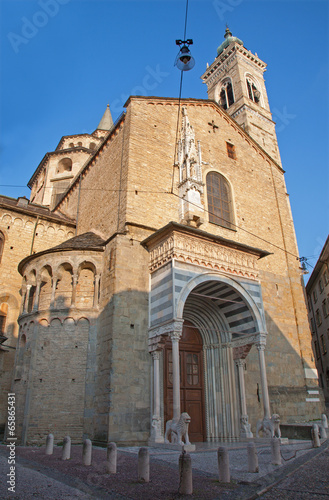Bergamo - cathedral Santa Maria Maggiore in morning light