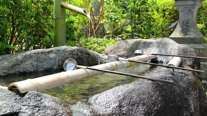 The Water Basin at the entrance of the Yasakuni shrine