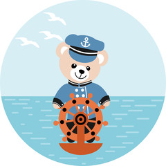 Ourson capitaine