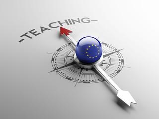 European Union Teach Concept