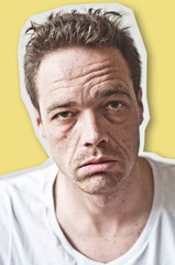 concept homme expressif fatigué