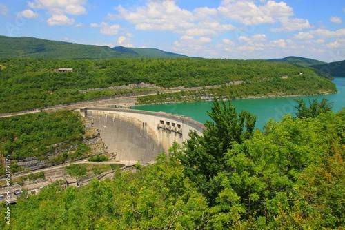 Staande foto Dam Barrage de Vouglans, Jura