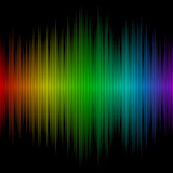 Fototapety Sound wave with spectral colours