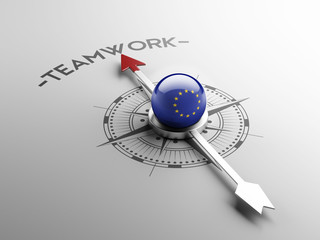 European Union Teamwork Concept