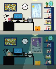 Office day and night