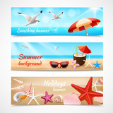 Summer holidays labels