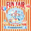 Vintage carnival poster template