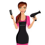 Fototapety Woman hairdresser portrait