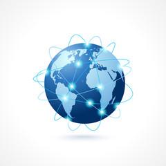 Network globe icon