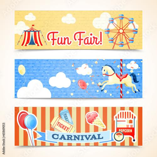 Vintage carnival banners horizontal - 65869053