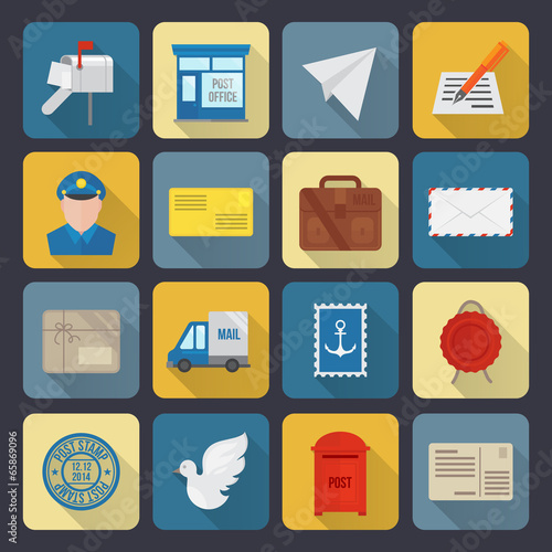 Post Service Icons - 65869096