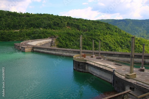 Spoed canvasdoek 2cm dik Dam Barrage de Vouglans, Jura