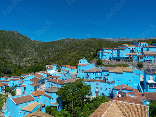 Juzcar Júzcar village des schtroumpfs bleu pitufo andalousie - 65870241