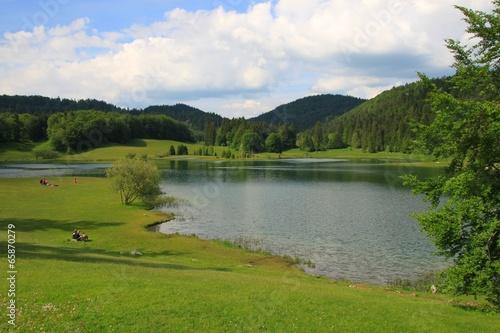 Papiers peints Alpes Lac Genin, Ain