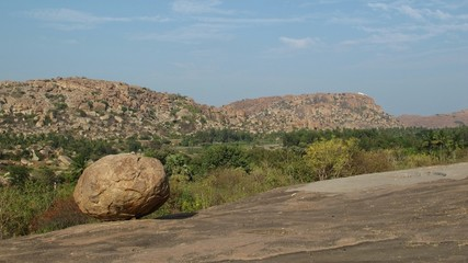 View towards the Hanuman Temple, Hampi