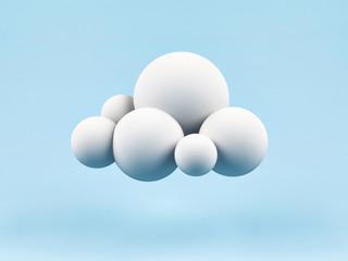 3d cloud.
