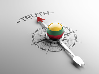 Lithuania Truth Concept