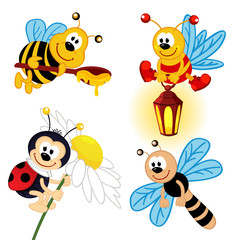set of icon insects - vector illustration, eps