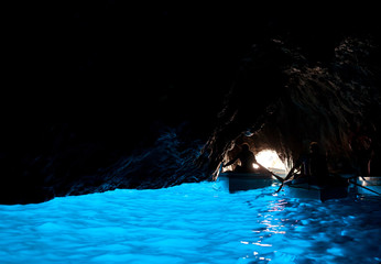 Grotta Azzurra, cave on the coast of the island of Capri.