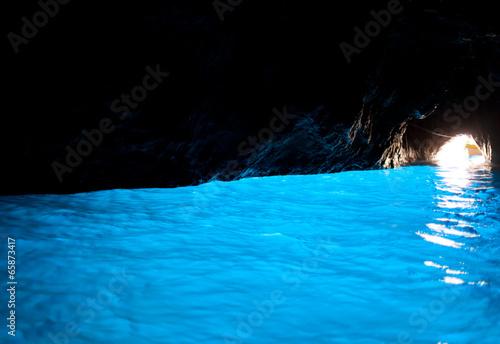 Leinwanddruck Bild Grotta Azzurra, cave on the coast of the island of Capri.