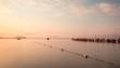 Minimalist Seascape. Coastal Sunrise. Ukraine. Crimea.