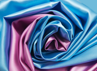 pink and blue satin fabric for background