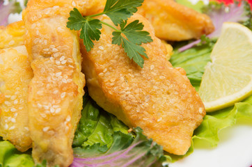 Fish dish - fried fish fillet.