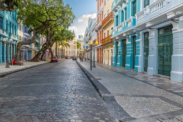 Bom Jesus Street in Recife, PE, Brazil