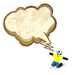 Soccer icons character with Speech Bubble