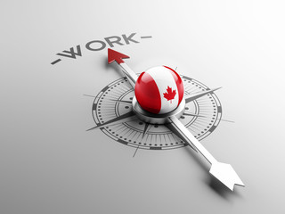 Canada Work Concept