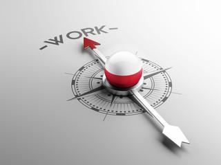 Poland Work Concept