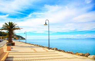 Promenade seafront in Porto Santo Stefano, Argentario, Tuscany,