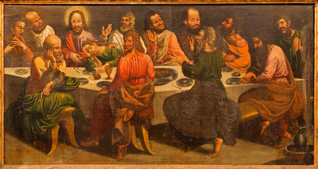 Stitnik - Pain of Last supper of Jesus in old gothic church