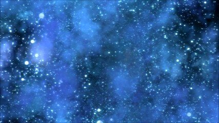 Space Travel through Star Field/Nebula - Loop Blue
