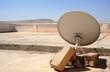Satellite antennas on a hospital roof
