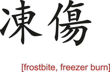 Chinese Sign for frostbite, freezer burn