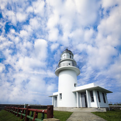 Lighthouse with beautiful sky