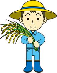 稲作農家 男性