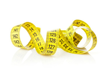 Yellow measure tape