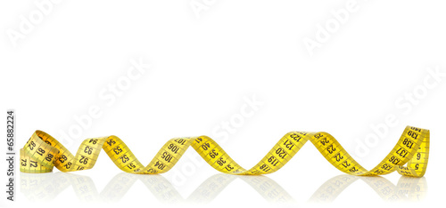 Yellow measure tape - 65882224