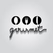 gourmet typo vector, EPS 10 - 65883206