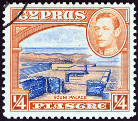 Vouni Palace and King George VI (Cyprus 1938)