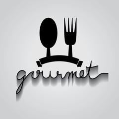 gourmet typo vector, EPS 10