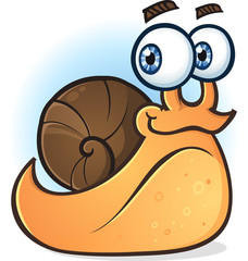 Snail Smiling Cartoon Character